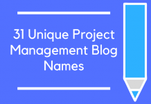 31 Unique Project Management Blog Names
