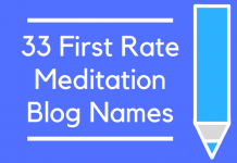 33 First Rate Meditation Blog Names
