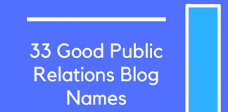 33 Good Public Relations Blog Names