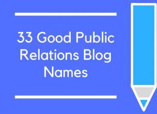 33 Good Public Relations Blog Names
