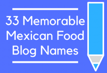 33 Memorable Mexican Food Blog Names