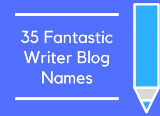 35 Fantastic Writer Blog Names