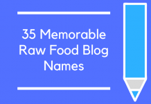 35 Memorable Raw Food Blog Names