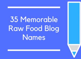35 Memorable Raw Food Blog Names