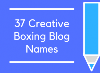 37 Creative Boxing Blog Names