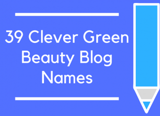 39 Clever Green Beauty Blog Names