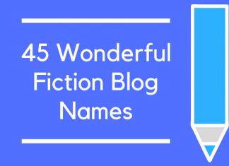 45 Wonderful Fiction Blog Names