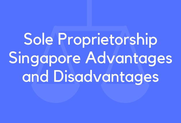 Sole Proprietorship Singapore Advantages and Disadvantages