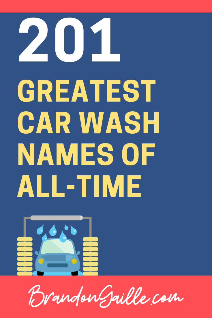 Car Wash Names