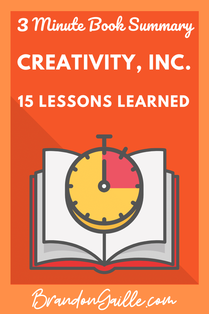 Creativity, Inc. Summary