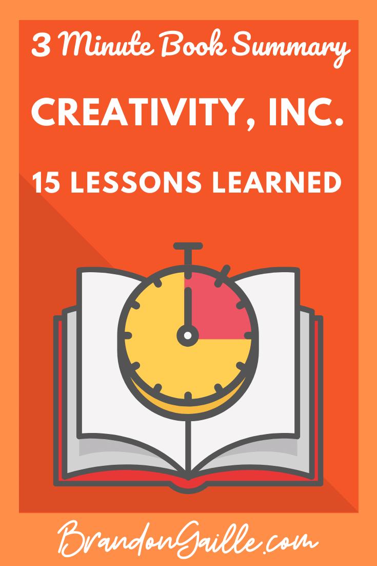 Creativity, Inc. Summary