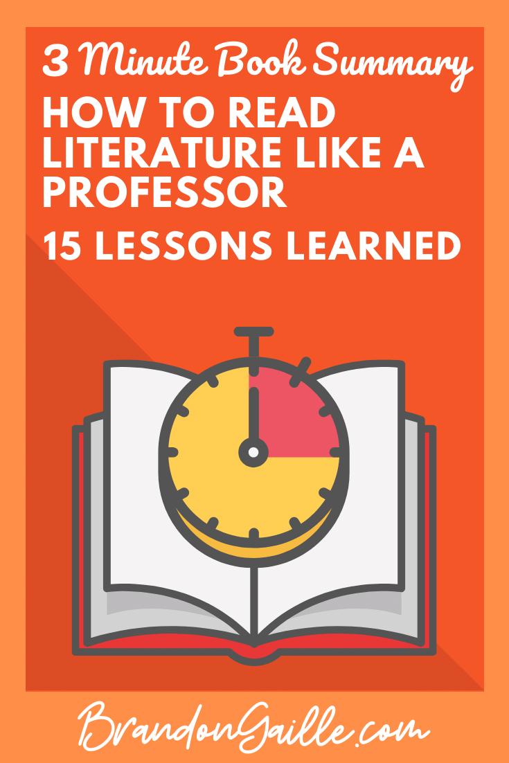 How to Read Literature like a Professor Summary