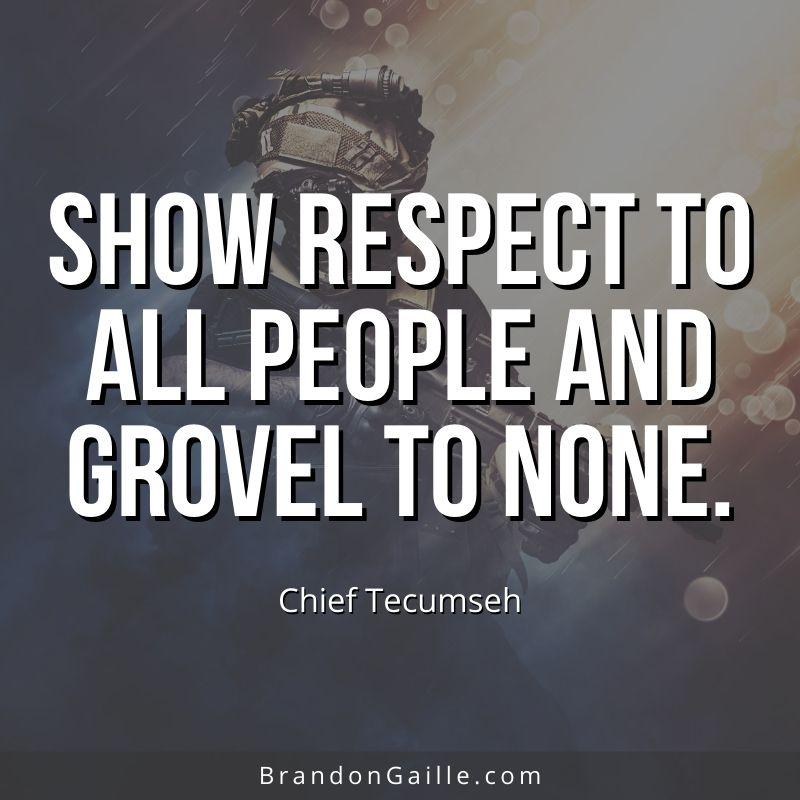 Chief Tecumseh Quote