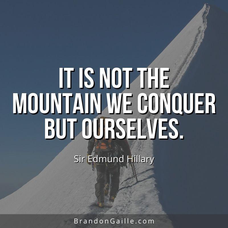 Sir Edmund Hillary Quote