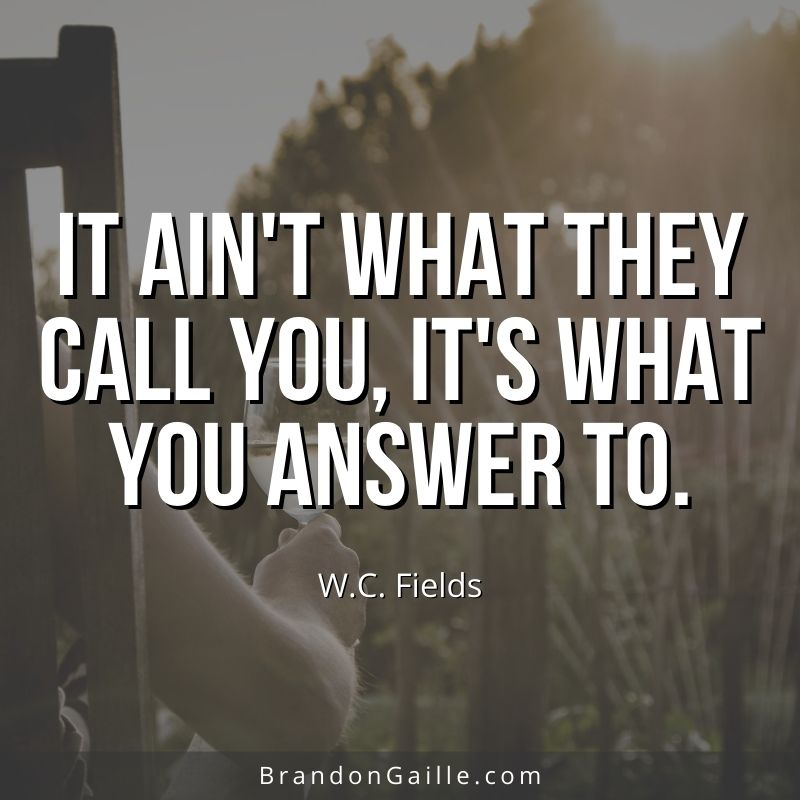 WC Fields Quote